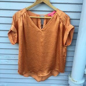 Burnt Golden Orange Silken Top